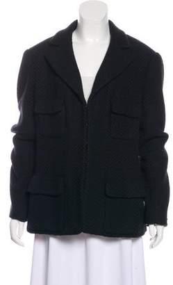 Chanel Wool Notch-Lapel Jacket