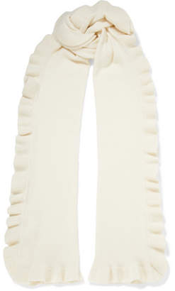 Madeleine Thompson Ava Ruffled Cashmere Scarf - Off-white