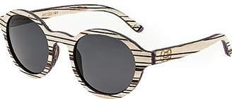 Earth Wood Maho Wood Sunglasses Polarized Round