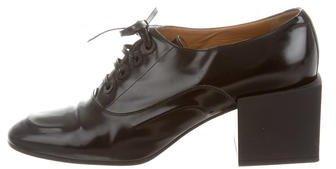 Balenciaga Balenciaga Leather Square-Toe Oxfords