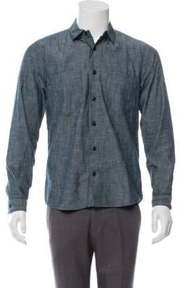 Stone Island Accented Chambray Button-Up Shirt