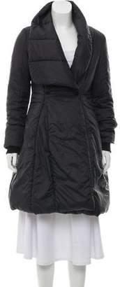 Halston Knee-Length Puffer Coat