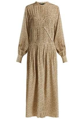 Joseph Jamie Fossil Print Silk Dress - Womens - Cream Multi