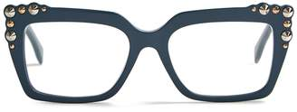 Fendi Stud-embellished square-frame glasses