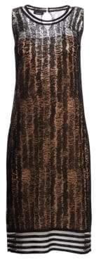 Akris Scribble Jacquard Knit Sleeveless Dress