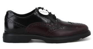 Hogan Two-tone Leather Brogue Derby Shoes