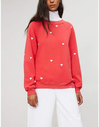 Wildfox Couture Lovestruck cotton-jersey sweatshirt