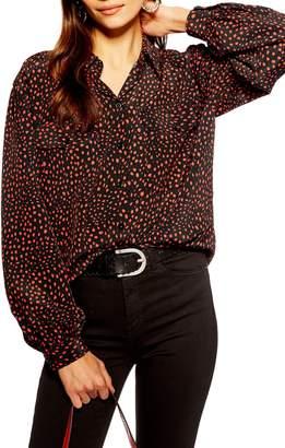 Topshop Animal Spot Shirt