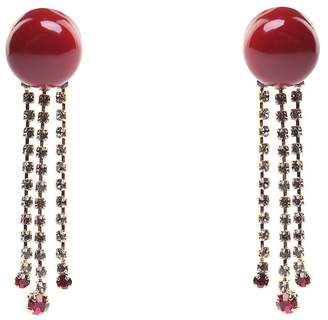 Marni Crystal-embellished Resin Earrings
