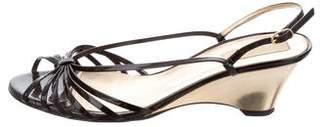 Michael Kors T-Strap Wedge Sandals