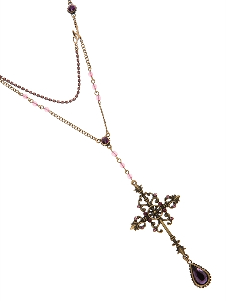 Small World Cross Necklace