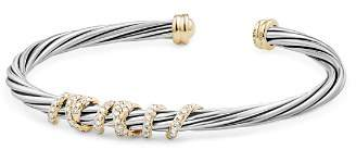 David Yurman Helena Center Station Bracelet with Diamonds and 18K Gold