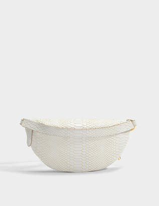 Stella McCartney Alter Snake Small Bum Bag in Ivory Eco Leather