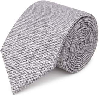 Reiss Our last order date for Christmas has now passed CEREMONY TEXTURED SILK TIE Silver
