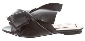 No.21 No. 21 Leather Bow Flat w/ Tags