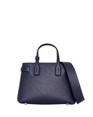 Burberry Banner Small Perforated Tote Bag, Regency Blue