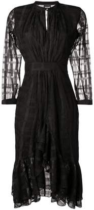 Just Cavalli geometric pattern midi dress