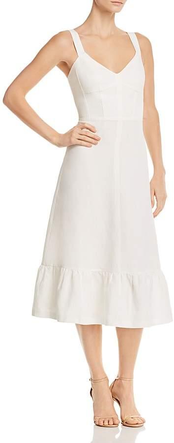 Rebecca Taylor Lace-Up Midi Dress