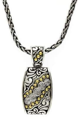 Effy 18k Yellow Gold and Silver Diamond Pendant