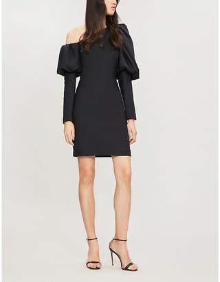 Osman One-shoulder twill mini dress