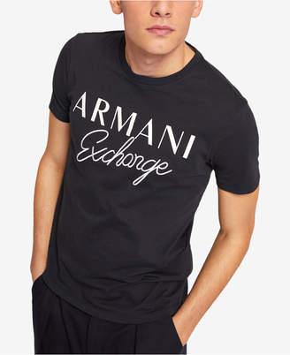 Armani Exchange Men Embroidered Logo T-Shirt