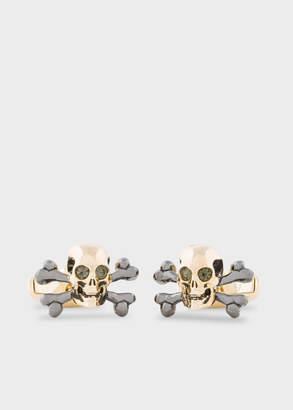 Paul Smith Men's Gold Skull And Crossbones Cufflinks