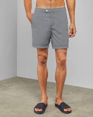 DINGY Stripe swim shorts
