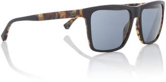 Emporio Armani Black Ea4117 Rectangle Sunglasses