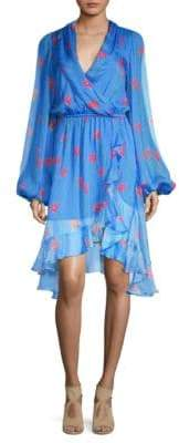 Caroline Constas Olivia Cowl Back Silk Dress