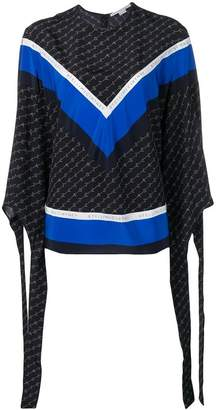 Stella McCartney logo printed tie-cuff blouse
