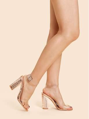 af07083d4b9b Shein Clear Design Ankle Strap Heels