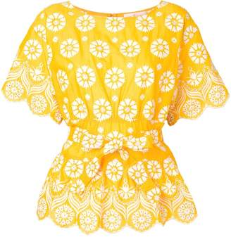 Tory Burch printed embroidered blouse