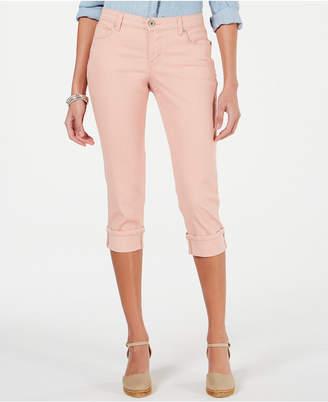 Style&Co. Style & Co Petite Size Curvy Cuffed Capri Jeans