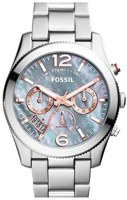 Women's Fossil 'Perfect Boyfriend' Chronograph Bracelet Watch, 40Mm $155 thestylecure.com