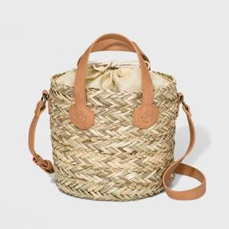 Universal Thread Straw Bucket Bag Natural