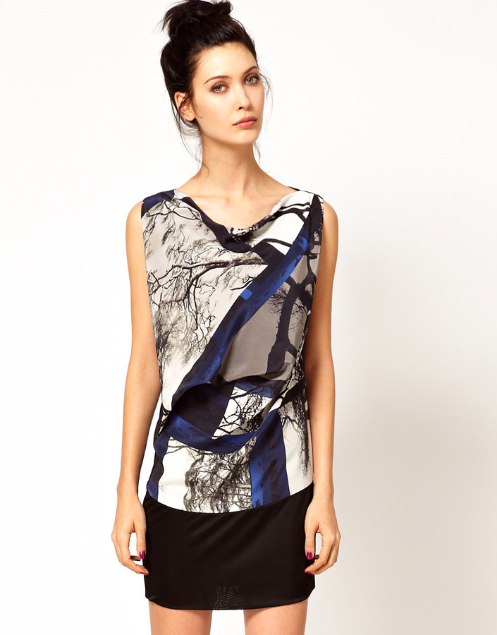 Edun Joshua Tree Print Banded Bottom Dress