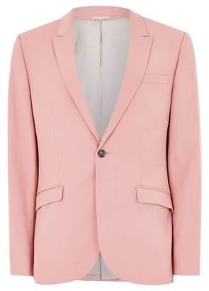 Topman Mens Pink Skinny Suit Jacket
