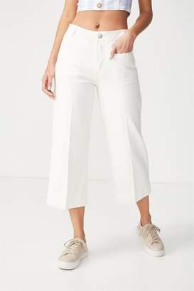 Cotton On High Rise Wide Leg Crop Jean