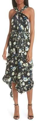 Derek Lam 10 Crosby Garden Floral Asymmetrical Midi Dress