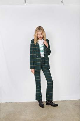 Anine Bing Cindy Pant - Green Plaid