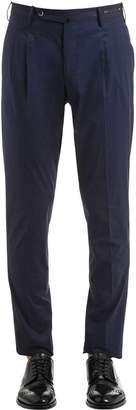 Pt01 18cm Light Stretch Cotton Poplin Pants