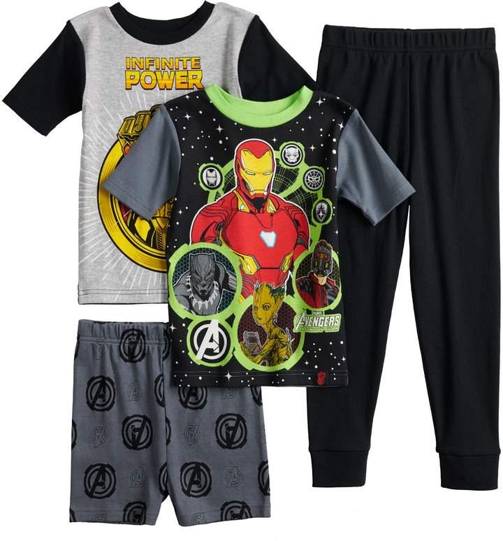 Boys 6-12 Marvel Comics Avengers 4-Piece Pajama Set