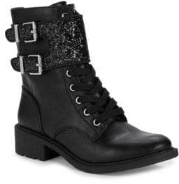 Sam Edelman Dorothy Glittered Combat Boots