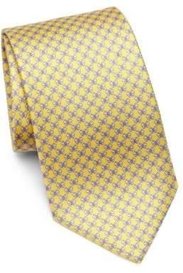 Salvatore Ferragamo Butterfly Bow Print Silk Tie
