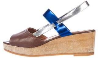 Rachel Comey Leather Slingback Wedges