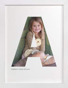 A - Within Letters of You Children's Custom Photo Art Print