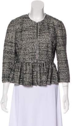 Rebecca Taylor Zip-Up Peplum Jacket