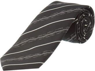 Dolce & Gabbana Black & Grey Stripe Tie