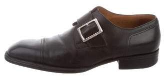 J.M. Weston Leather Monk Strap Loafers