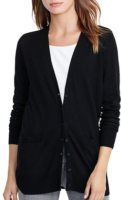 Lauren Ralph Lauren Stretch Cotton-Blend Cardigan $89.50 thestylecure.com